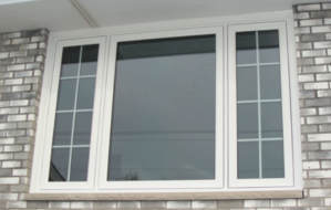 New casement windows at a house in Whitefish Bay, Wisconsin