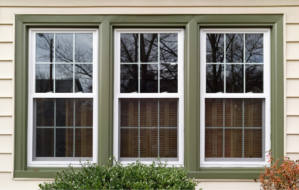 New replacement windows at a house in Racine, Wisconsin